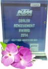 2014 - KTM Dealer Achievement Award